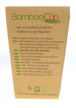 Bambusbecher But first coffee