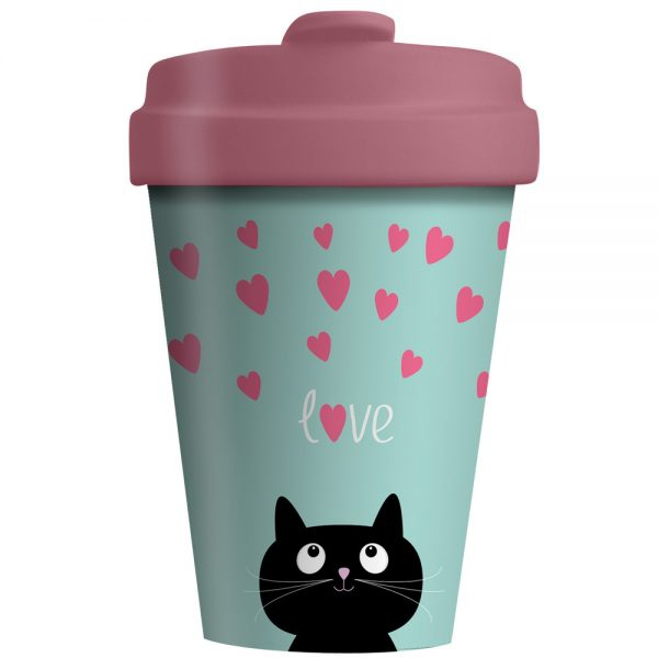 Bambusbecher To Go Black Cat